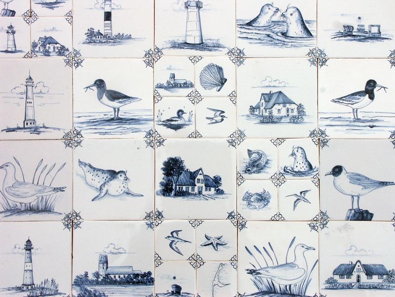 Antik Bau Stawe Delfter Fliesen Nordfriesische Inseln Motive - Friesische fliesen shop