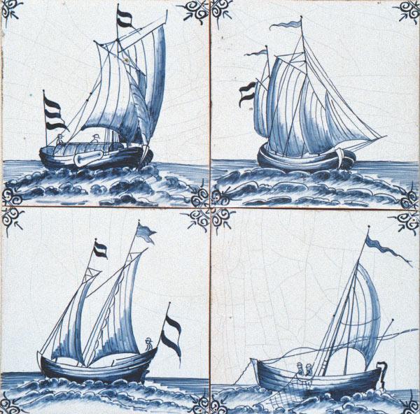 Antik Bau Stawe Delfter Fliesen Mit Maritimen Motiven Maritime