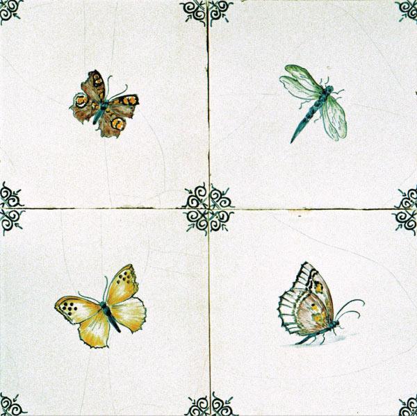 Antik bau stawe delfter fliesen tiermotive tiere