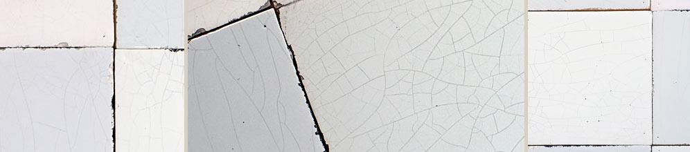 Antik bau stawe delfter fliesen ohne bemalung weiße